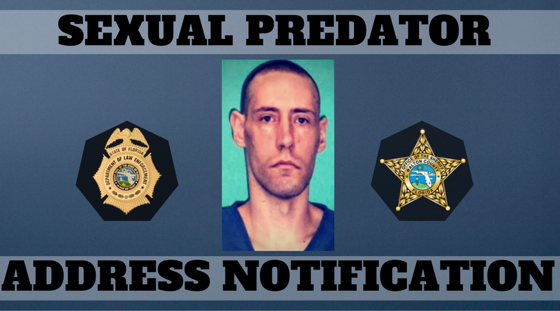 SEXUAL PREDATOR ADDRESS NOTIFICATION – JOHN BOLLINGER