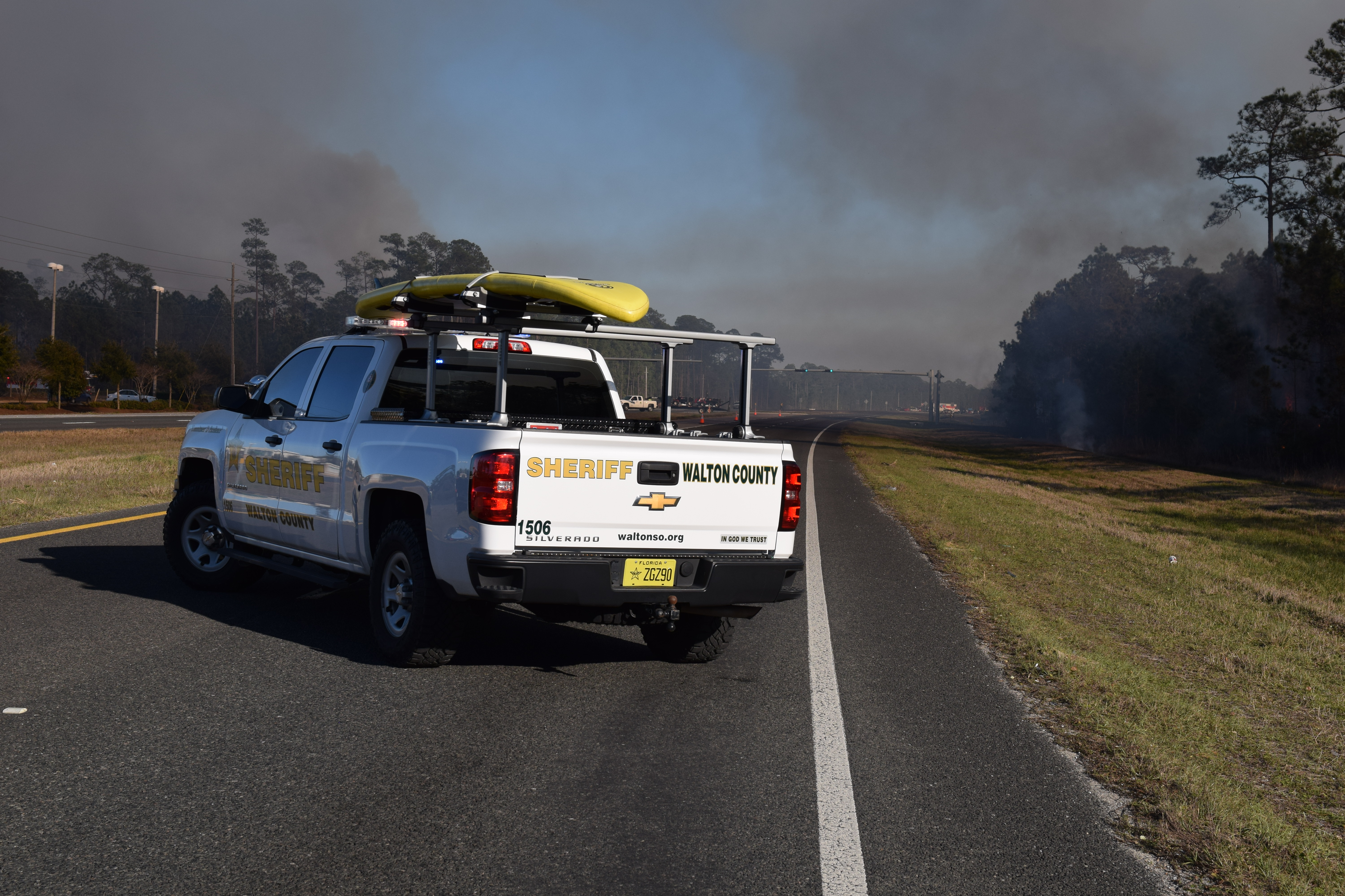 WCSO ASSISTING FLORIDA FOREST SERVICE WITH FIRE IN SANTA ROSA BEACH